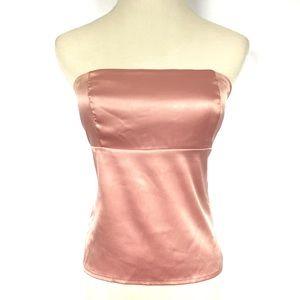 CHARLOTTE RUSSE Pink Back Tie Tube Top